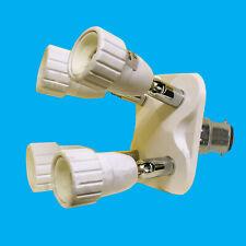 Bayonet BC B22 To B22 large Extender Light Bulb Adaptor Lamp /& Lampshade Collar