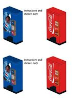 Lego Custom Soda Pop Vending Machine 10218 10224 10185 10182 Stickers