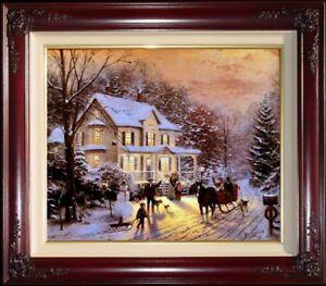 Thomas-Kinkade-Home-for-the-Holidays-20-034-x-24-034-Rare-034-Retouched-Proof-034-R-P