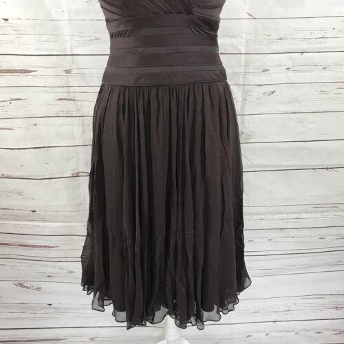Dames jurk Tadashi mouwen bruine zonder maat zijden 4 Shoji oCeBWrxd