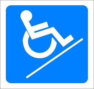 4-034-x-4-034-ONE-GLOSSY-STICKER-034-WHEEL-CHAIR-SLOPE-034-FOR-INDOOR-OR-OUTDOOR-USE