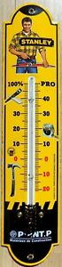 THERMOMETRE-emaille-vintage-STANLEY-POINT-P-45-X-10-cm-pub-email