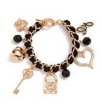 Guess Gold Woven Charm Bracelet