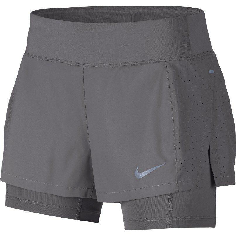 """Nike Eclipse 3"""" Women's Dri-fit 2in1 Running Training Short Ajusté Intérieur Collants"""