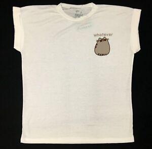 Pusheen-The-Cat-WHATEVER-Girls-Women-039-s-T-Shirt-NWT-Licensed-amp-Official