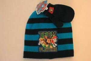 NEW Toddler Boys Beanie Hat Mittens 2 Piece Set Paw Patrol Winter ... 9f41b607cea0