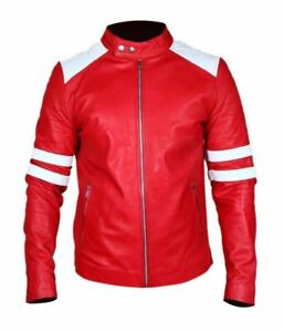b0b8347173972 Men s Fight Club Halloween Retro Mayhem Red White Stripes Faux ...