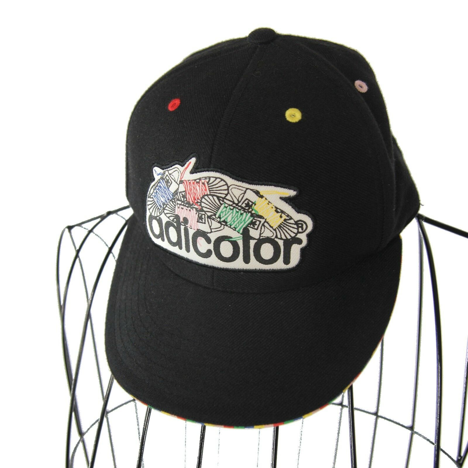 Vintage Adidas Fitted AdiColor Fitted Adidas Hat Sz Small Spellout 90s Rare 4b30ad