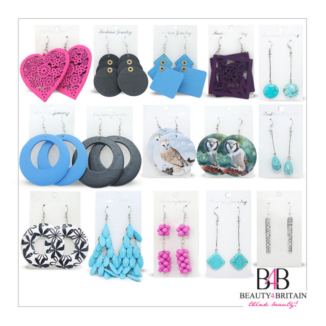 144 PAIRS x Mixed Earrings Assorted Designs & Colours WHOLESALE FROM UK