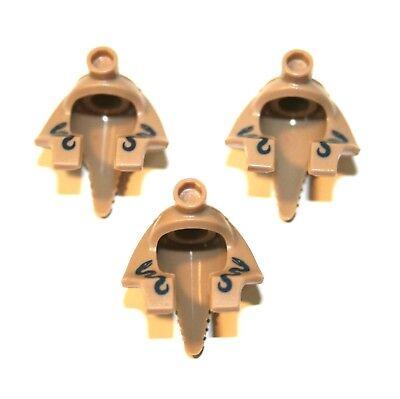 2x LEGO® Zwergen-//Ritter-Helm mit Nieten und Flügeln 60747 NEU hellgrau