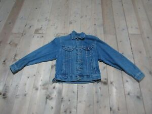 GIACCA CAMICIA JEANS LEE TG. S UOMO BLU VINTAGE A+