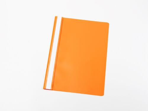 orange Farbe 10 PVC Schnellhefter DIN A4