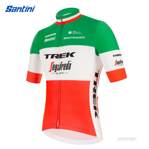Details about  /NEW 2021 Santini TREK SEGAFREDO ITALIAN CHAMP FAN Short Sleeve Cycling Jersey