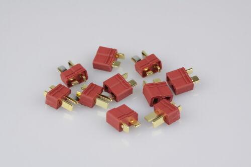 T-Plug 10St 5 Paar  Goldkontakt Nylon DEAN Hochstrom T-Stecker Connector