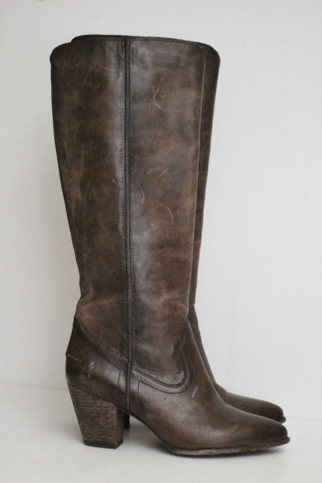 Nuevo Frye son Nee 'Costura Alto Alto Alto botas De Cuero-Marrón Pizarra-tamaño 9 M - 3472069  378  comprar ahora