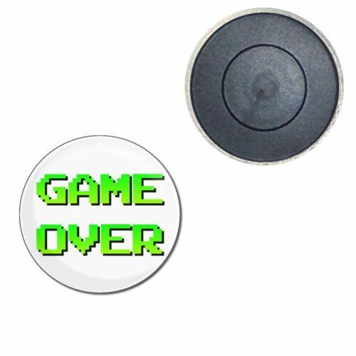 Decoration Fun BadgeBeast Game Over Button Badge Fridge Magnet