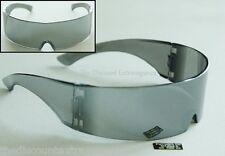 2 PACK Techno Translucent Mirror  Futuristic Rave Space Robot Visor Sunglass