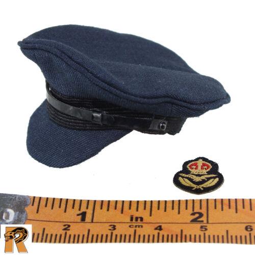 Deuxième Guerre Mondiale Royal Air Force Pilot-Officier Chapeau Avec Patch-échelle 1//6 Alerte Ligne Action Figures