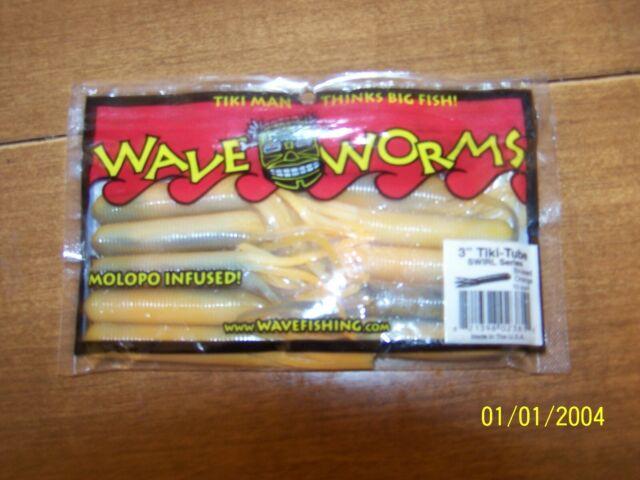 "Wave Fishing 3/"" Tikki Grass Craw lot of 4 4 Colors"