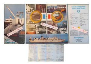 Navire-Cablier-VERCORS-rare-plaquette-Brest-Le-Havre-cables-sous-marins-8p