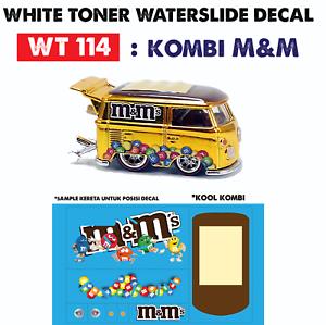 Wt114 White Toner Waterslide Decal Kombi M M For Custom 1 64 Hot Wheels Ebay