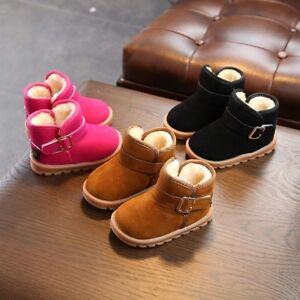 Kids Baby Girl Winter Boots Shoes