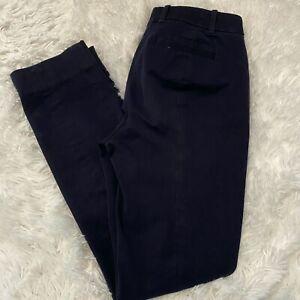 J-Crew-Womens-Size-0-Regular-Black-Stretch-Dress-Pants-27-034-Inseam-EUC