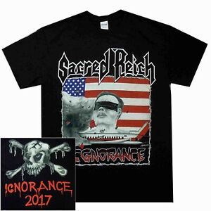 Sacred-Reich-Ignorance-T-Shirt-S-M-L-XL-Official-T-Shirt-Thrash-Metal-Tshirt