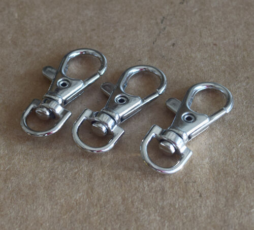 great for Keychains and Backpacks! Chrome Rotating Hang Clip Carabiner