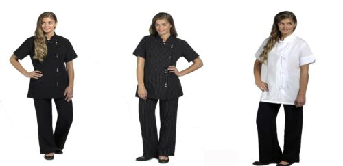 N581 Beauty Tunics woman shirts girls ladies tunics tops office uniform shirts