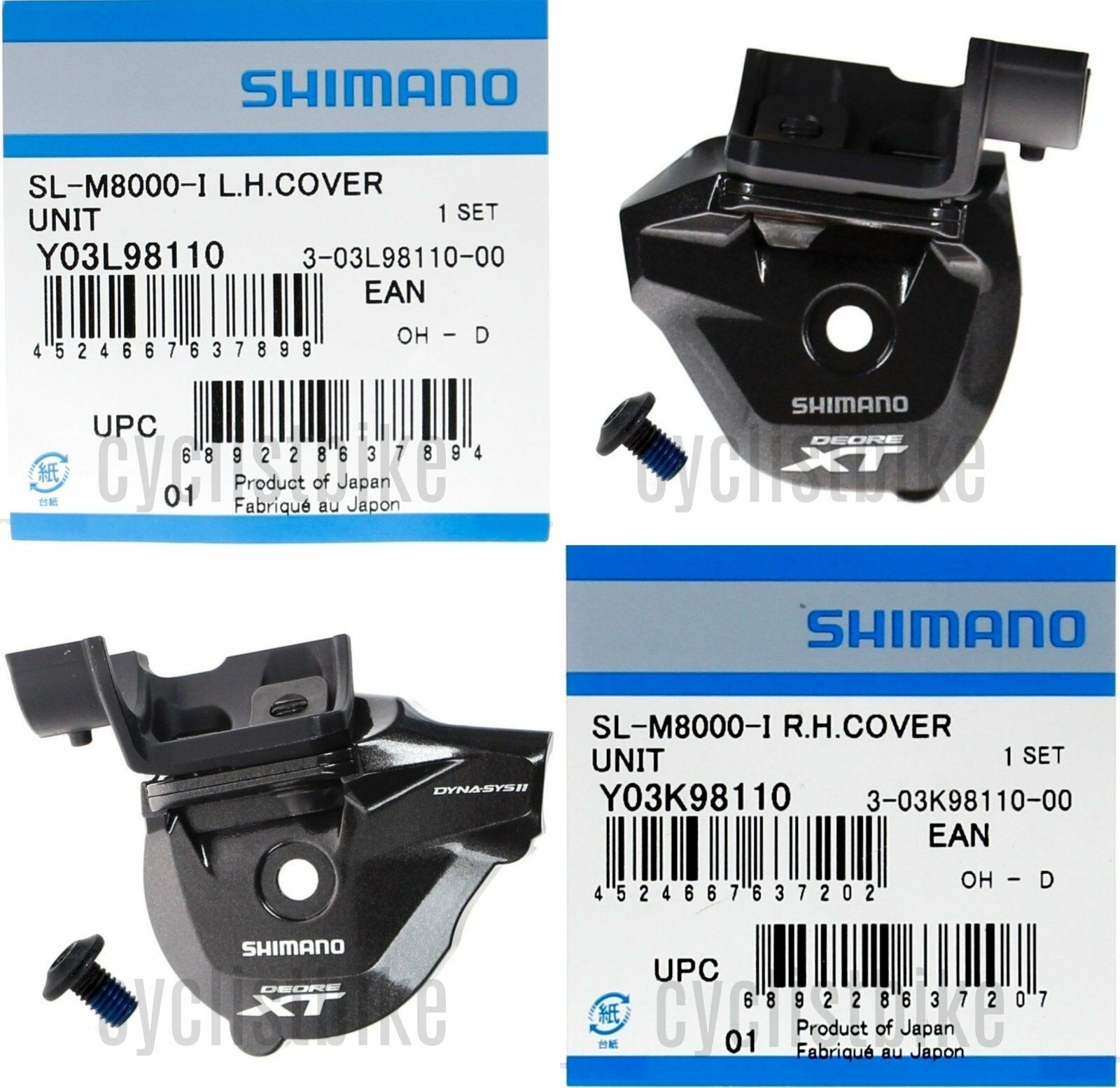 Shimano Deore XT SL-M8000-II - Spec cubierta de mano izquierda & derecho II Par Nuevo En Caja