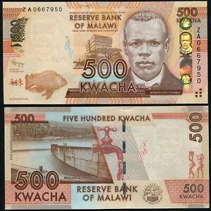 Malawi 500 Kwacha. UNZ Replacement 01.01.2012 Banknote Kat# P.61a