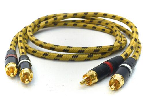 2x1,0 Meter Profi Cinchkabel für Revox B225 B226 Sommer cable Classique Neutrik