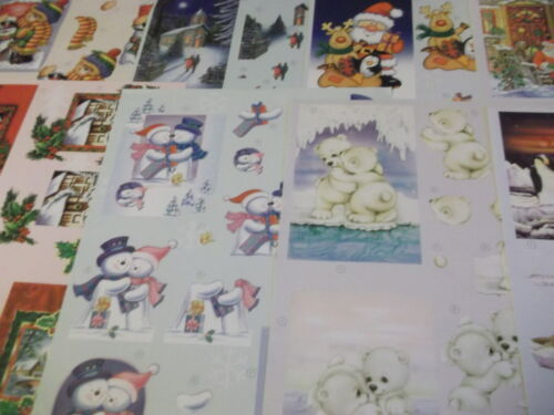 2 x A4 NDC Christmas Decoupage Teddy,Santa,Traditional,Snowman Various Designs
