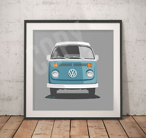 VW-Camper-Print-30cm-x-30cm-Heavy-Weight-300gms-Paper