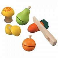PLAN TOYS WOODEN FRUIT & VEGETABLE SET BRAND NEW IN BOX GREAT GIFT 3+