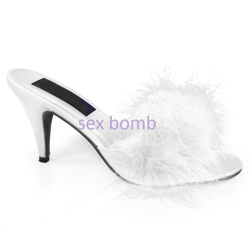 SEXY SEXY SEXY sabot sandali camera MARYLIN white TACCO 7,5 dal 35 al 46 fashion GLAMOUR 2706f4