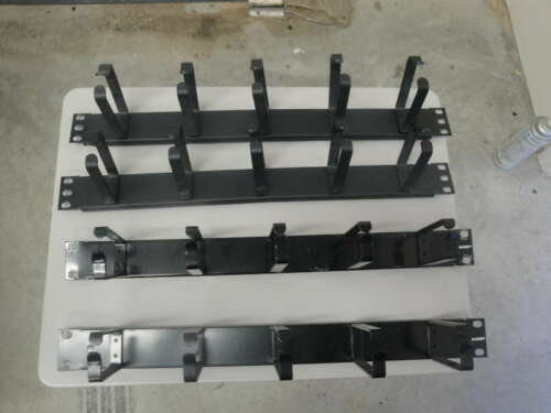 1U Rackmount Cable Management Panel with 5 Loops CM02