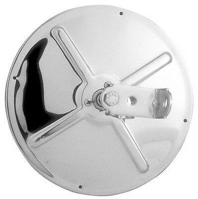 """Two 8.5"""" Convex Spot Mirrors Polished Stainless Steel Backs Center Mount 8 1/2"""""""
