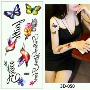 Hummingbirds Temporary Tattoos Adult Body Art Quotes Grace Faith Summer Fun Ebay