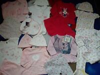 Amazing 46 Bundle Outfits Winnie Minnie Bambi Baby Girl Clothes 0/3 Mths Nre