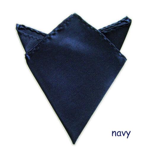 Men/'s Satin Silk Pocket Square Hankie Handkerchief for Wedding Party Formal Suit
