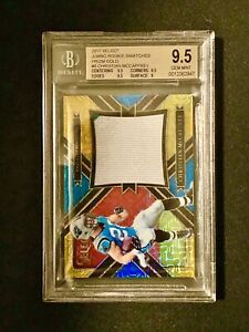 2017-Panini-Select-Prizm-Gold-Christian-McCaffrey-Rookie-7-10-BGS-9-5-Pop1