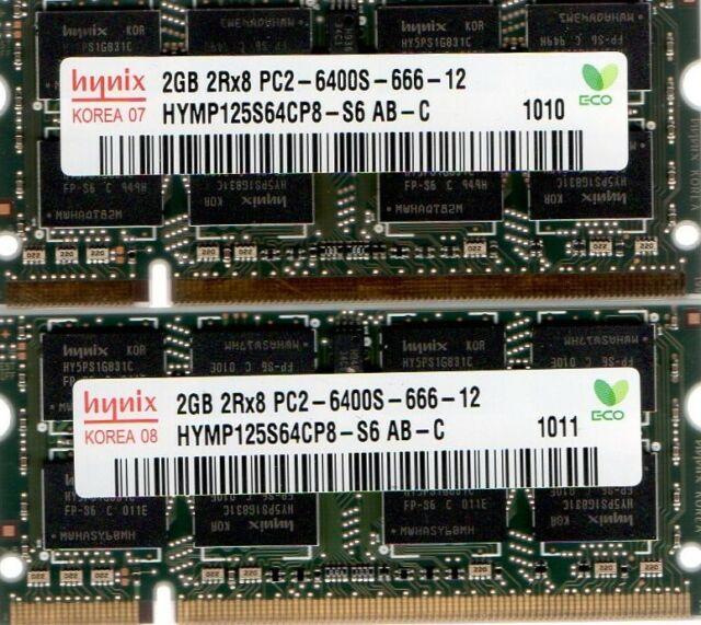 "Memory RAM for Apple MacBook /""Core 2 Duo/"" 2.0 13/"" 4GB Unibody 2x2GB"