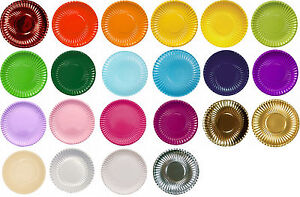 Image is loading Coloured-paper-plates-and-bowls-Italian-design-strong-  sc 1 st  eBay & Coloured paper plates and bowls - Italian design strong recyclable ...
