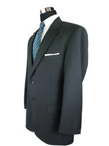 Pronto Uomo Italy Wool Charcoal Gray 2 Button Suit Jacket Blazer 2Vents 43/44L