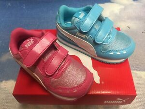 10671aabc99 Puma Kids Cabana Racer Glitter V Hook   Loop Sneakers Toddler Size 6 ...