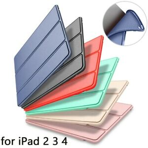 For-IPad-Air-2-Air-1-Case-Silicone-Soft-Back-Pu-Leather-Smart-Cover-Case-6th