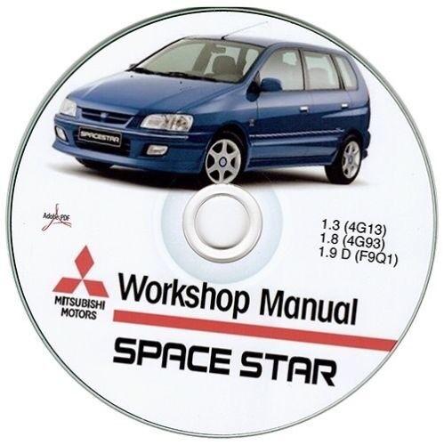 1999-2003 Mitsubishi Space Star Werkstatthandbuch Workshop Manuell ...