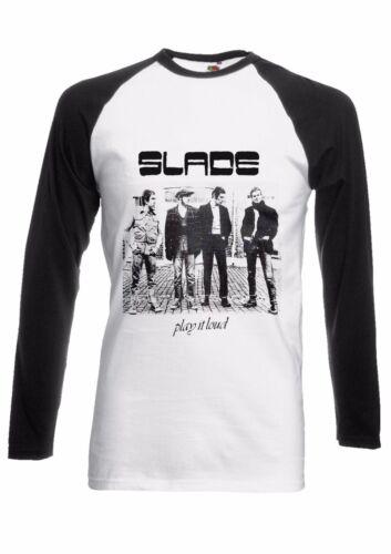 Slade Play It Loud Band Music Men Women Long Short Sleeve Baseball T Shirt 1906E